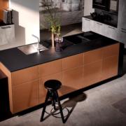 Keuken in koper met kookeiland in friesland groningen drenthe